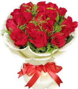 19 adet kırmızı gülden buket tanzimi  Adana çiçek siparişi çiçek servisi , çiçekçi adresleri