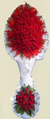 Çift katlı kıpkırmızı düğün açılış çiçeği  Adana çiçek siparişi anneler günü çiçek yolla