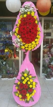 Çift katlı düğün nikah açılış çiçek modeli  Adana çiçek siparişi çiçekçiler