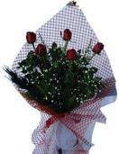 Adana çiçek gönder çiçekçi mağazası  5 adet kirmizi güllerden buket
