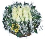 Adana çiçek siparişi çiçekçiler  Beyaz harika bir gül sepeti