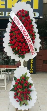 Çift katlı düğün nikah çiçeği modeli  Adana çiçek gönder hediye çiçek yolla