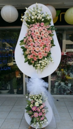 Çift katlı özel şahane sepet çiçeği  Adana çiçek yolla çiçekçi telefonları