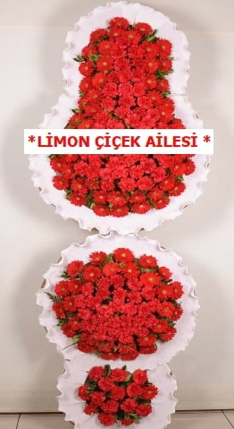 3 katlı kırmızı düğün açılış çiçeği  Adana çiçek yolla çiçek gönderme