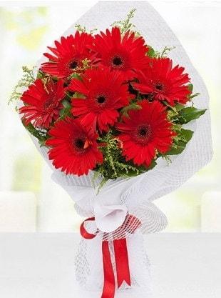 Kırmızı Gelbera Buketi  Adana çiçek siparişi internetten çiçek siparişi