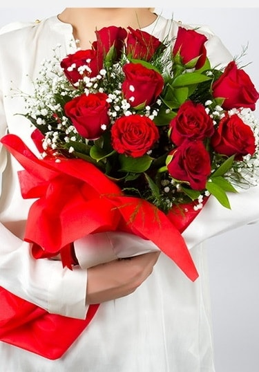 Aşk Gülleri 11 Adet kırmızı gül buketi  Adana çiçek yolla çiçekçi telefonları