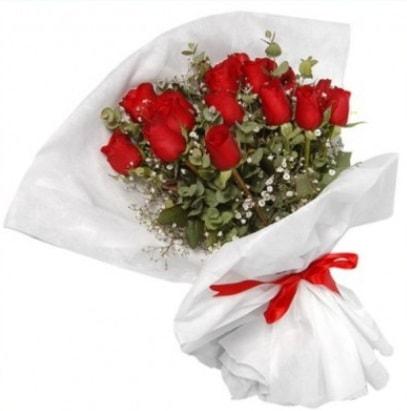 9 adet kırmızı gül buketi  Adana çiçek gönder çiçekçi mağazası