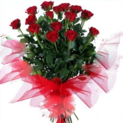 15 adet kırmızı gül buketi  Adana çiçek siparişi cicek , cicekci