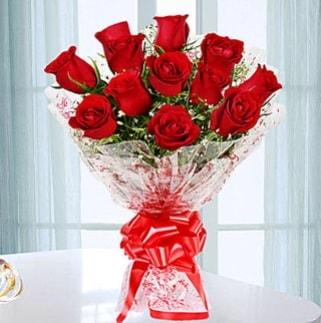 11 adet kırmızı gülden görsel şık buket  Adana çiçek gönder ucuz çiçek gönder