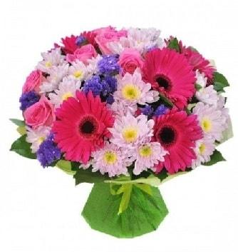 Karışık mevsim buketi mevsimsel buket  Adana çiçek yolla çiçek satışı