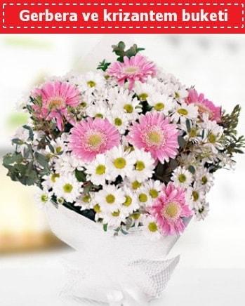 Papatya ve Gerbera Buketi  Adana çiçek gönder çiçek , çiçekçi , çiçekçilik