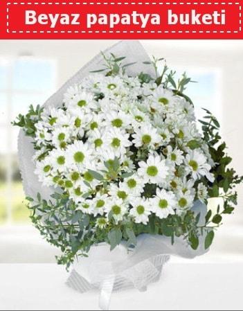 Beyaz Papatya Buketi  Adana çiçek siparişi 14 şubat sevgililer günü çiçek