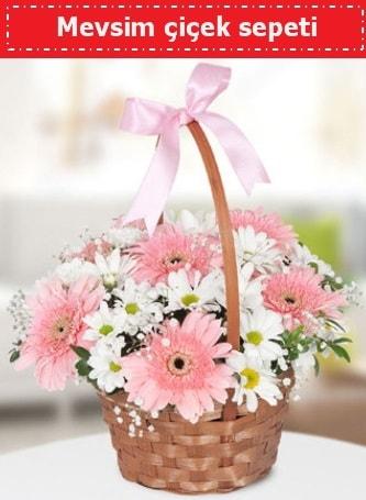 Mevsim kır çiçek sepeti  Adana çiçek gönder çiçek , çiçekçi , çiçekçilik