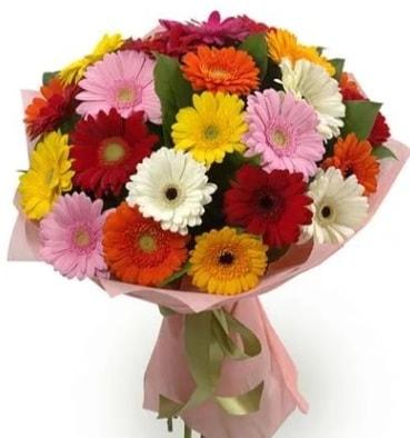 Karışık büyük boy gerbera çiçek buketi  Adana çiçek yolla çiçek satışı